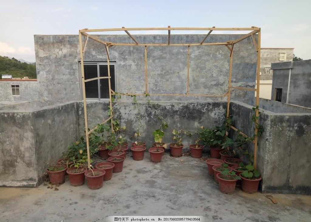 农村房架子结构图