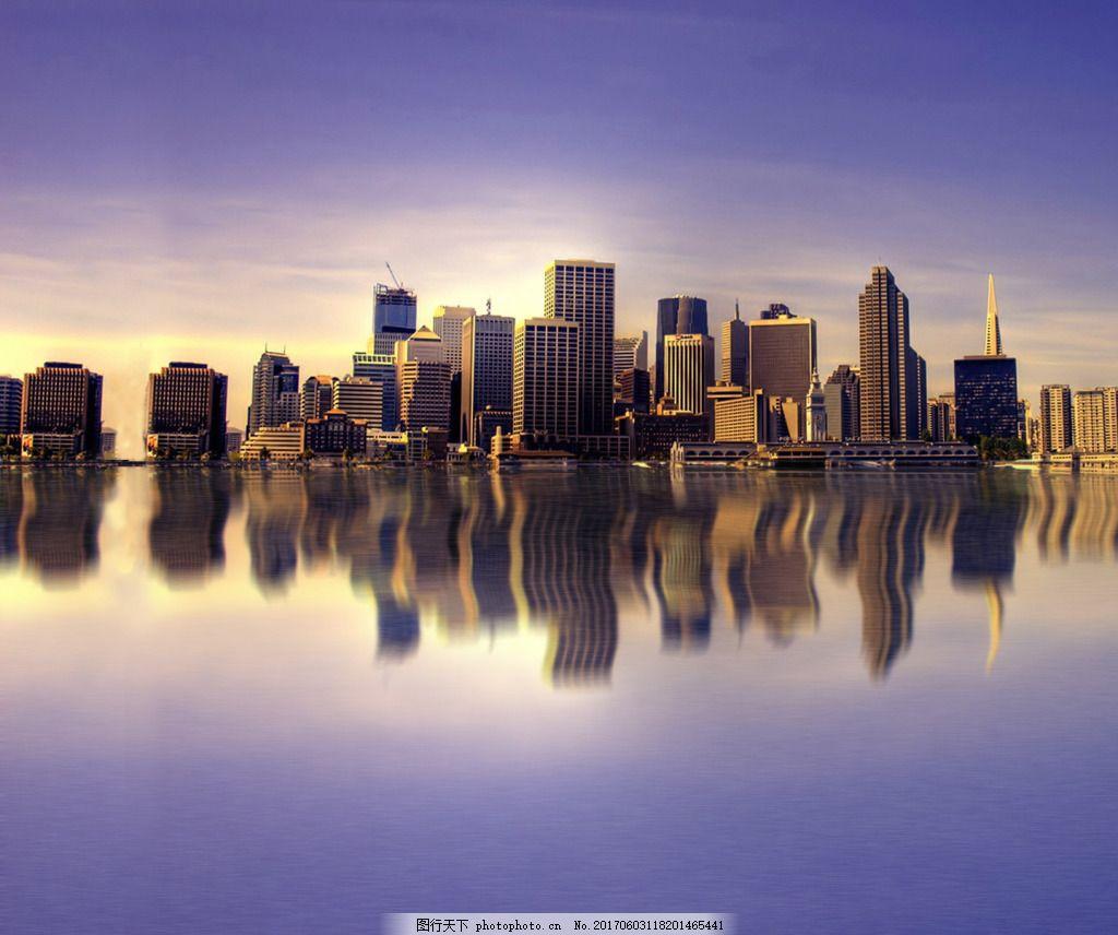 城市倒影 美景 科幻