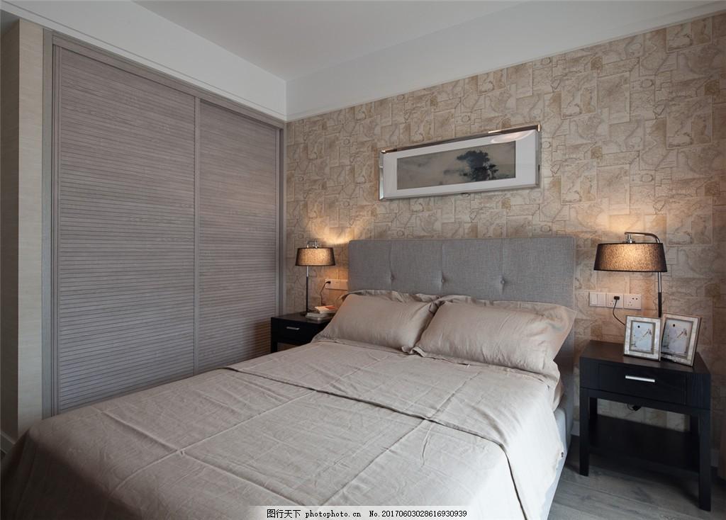 北欧简约卧室装修效果图图片