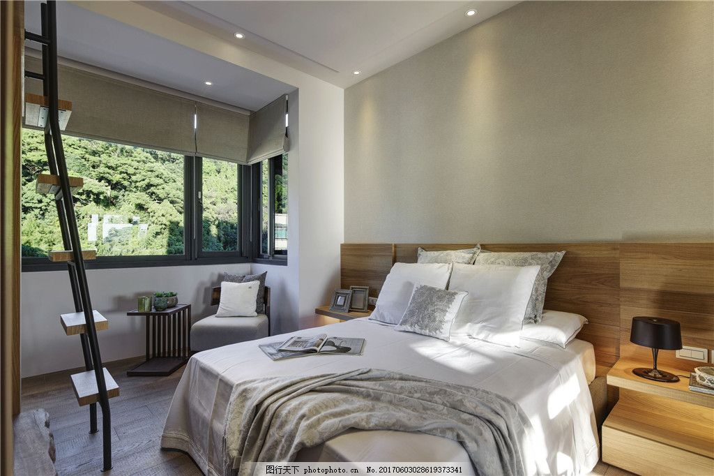 北欧卧室装修效果图 室内设计 家装效果图 欧式装修效果图 时尚