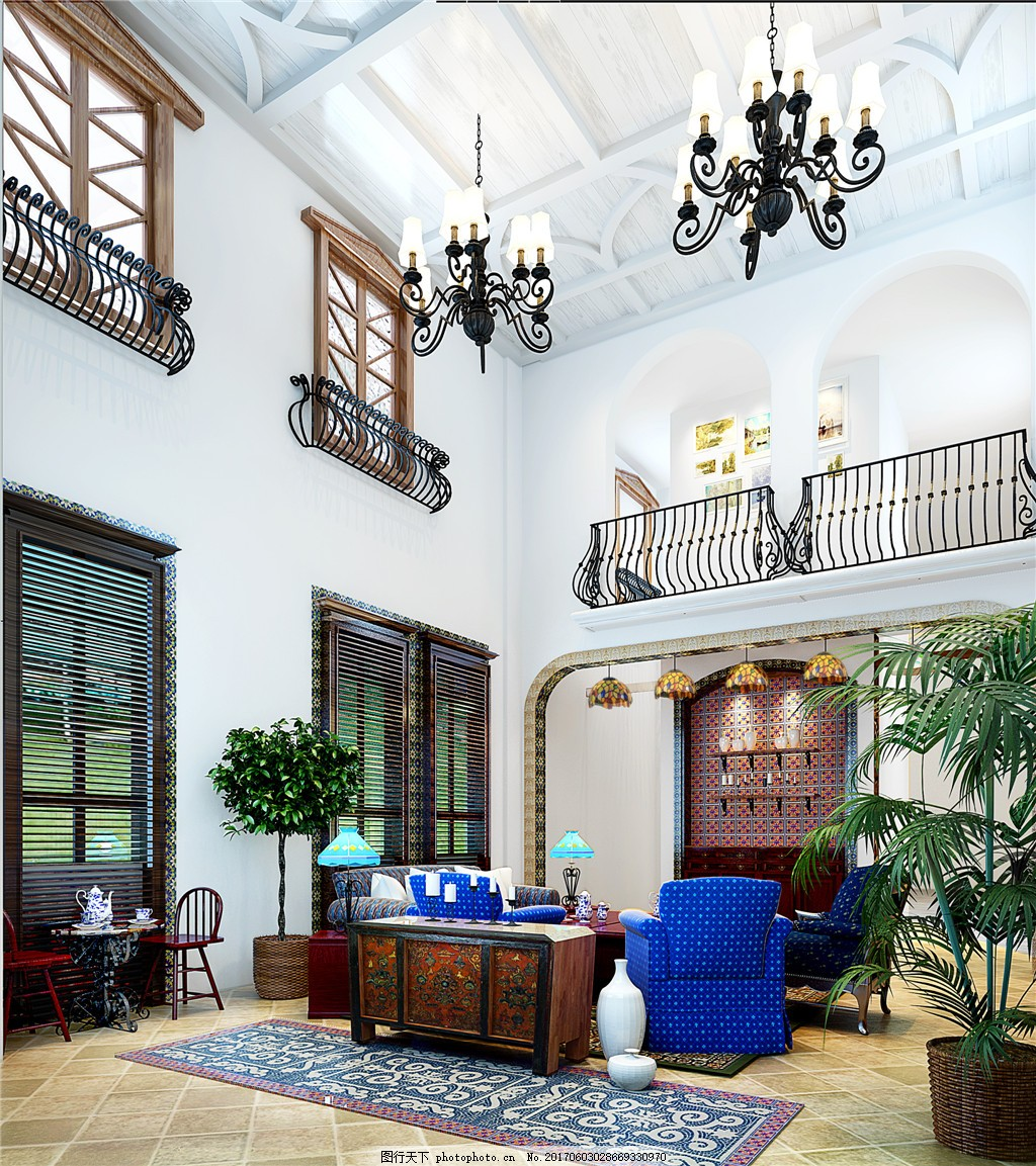 家装效果图 现代装修效果图 时尚 奢华 设计素材 室内装修 地中海风图片