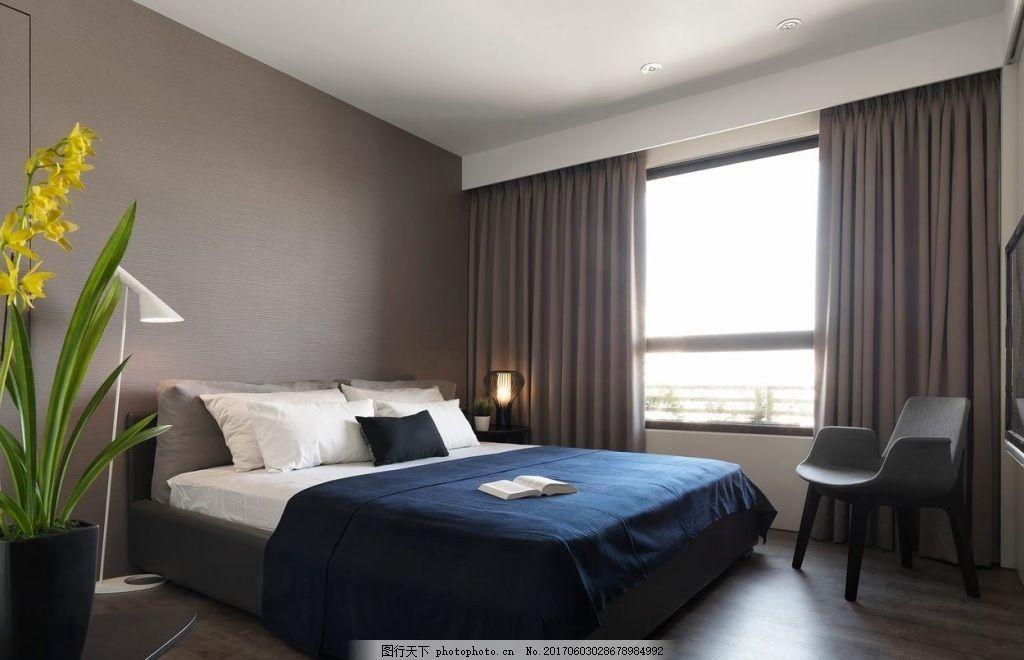 北欧家居卧室装修效果图 室内设计 家装效果图 欧式装修效果图 设计