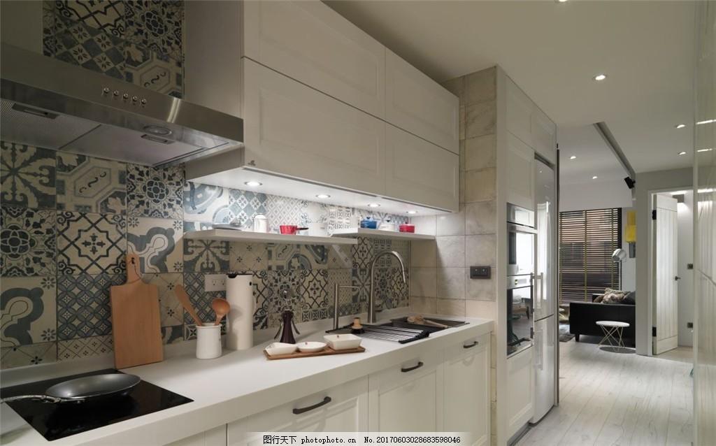 北欧现代厨房装修效果图 家装效果图 欧式装修效果图 时尚 奢华