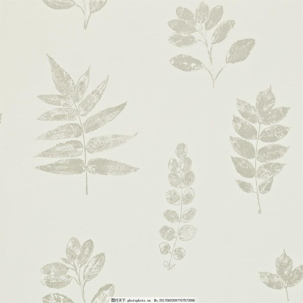 简约白色花纹布艺壁纸,西式花纹背景图 无缝壁纸素材