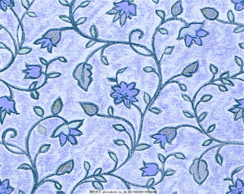 蓝色花纹无缝壁纸 中式花纹背景 壁纸素材 无缝壁纸素材 欧式花纹