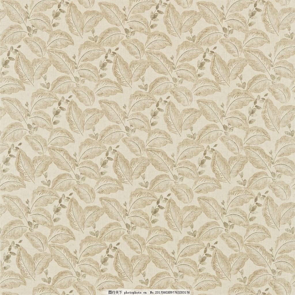 米色树叶图案壁纸 中式花纹背景 壁纸素材 无缝壁纸素材 欧式花纹