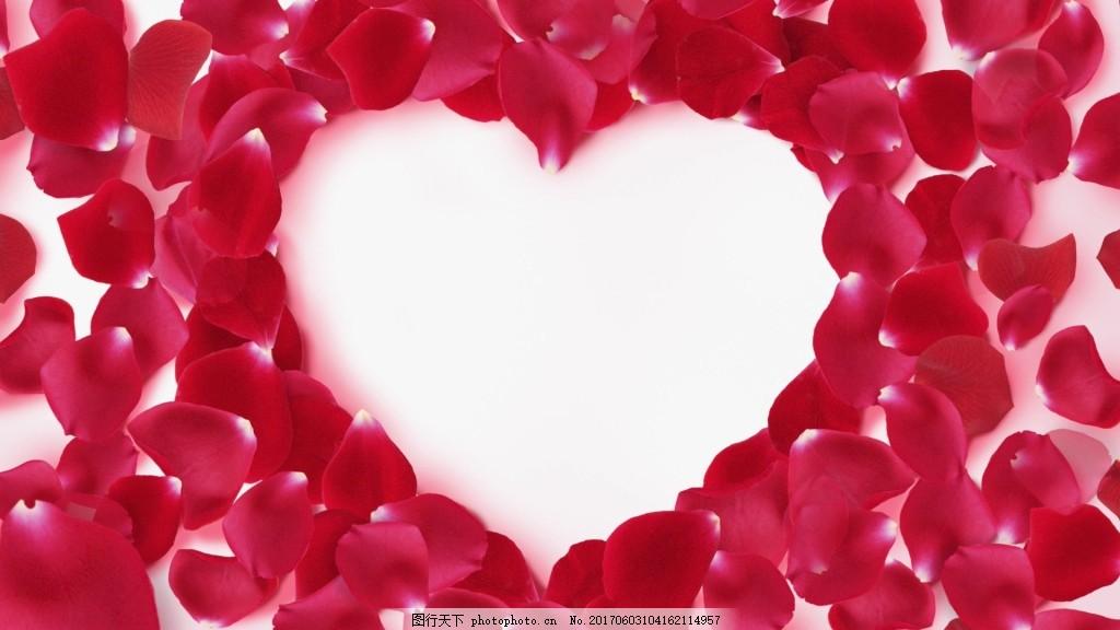 爱心花瓣飘落图片
