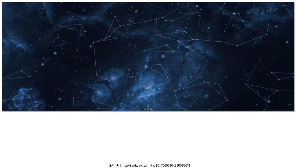 星空连线粒子光效背景视频素材 蓝色 连线粒子背景素材 宇宙空间
