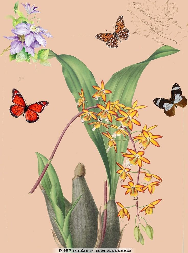 简欧花卉装饰画 沙发背景墙 欧式装饰画 冰晶画 水晶画 客厅背景墙