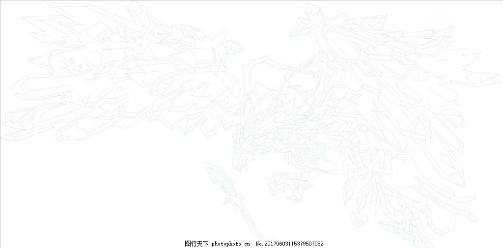 lol冰晶简笔画 lol 冰晶 凤凰 简笔画 可更改颜色 涂鸦 设计 广告设计