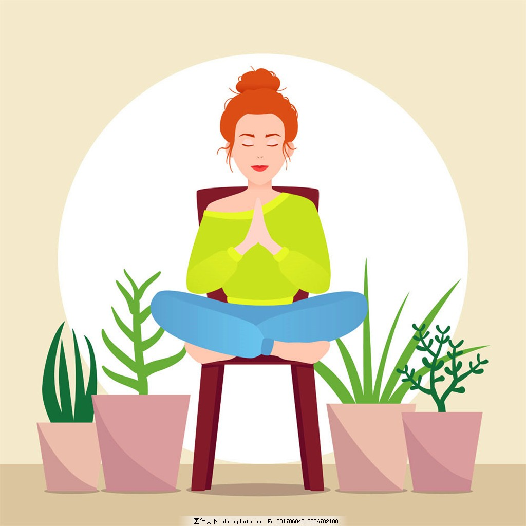 瑜伽美女漫画 手绘美女 卡通美女 卡通瑜伽 瑜伽插画 瑜伽广告