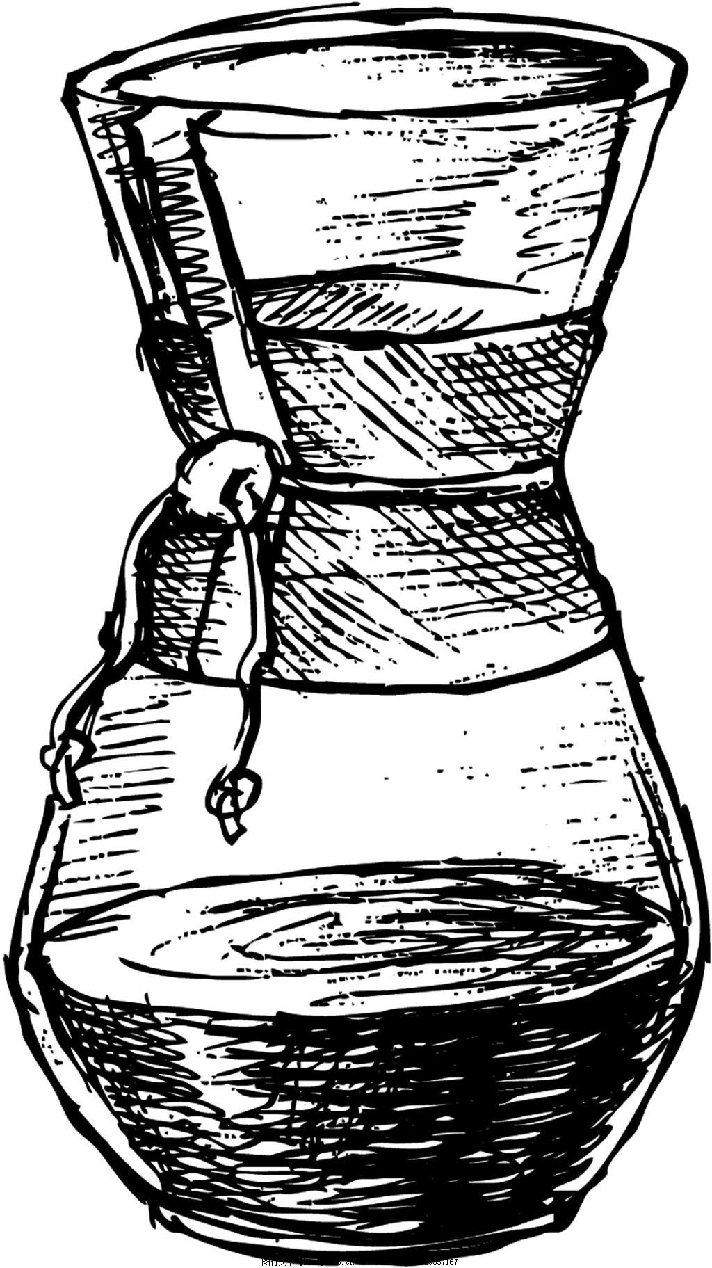 素描 铅笔画 手绘 冰淇淋 夏天 黑白 设计 矢量 背景 源文件 素材