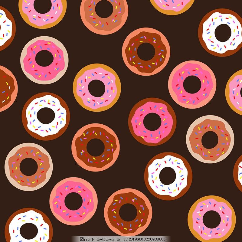 卡通甜甜圈背景素材