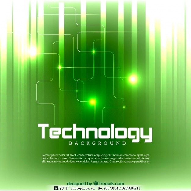 几何 绿色 线条 技术背景 几何背景 圆点 抽象线条 现代 装饰 电路