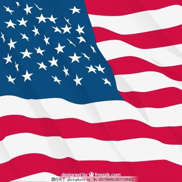 美国国旗在现实设计中的背景 星星 条纹 文化 自由 国家 明星背景