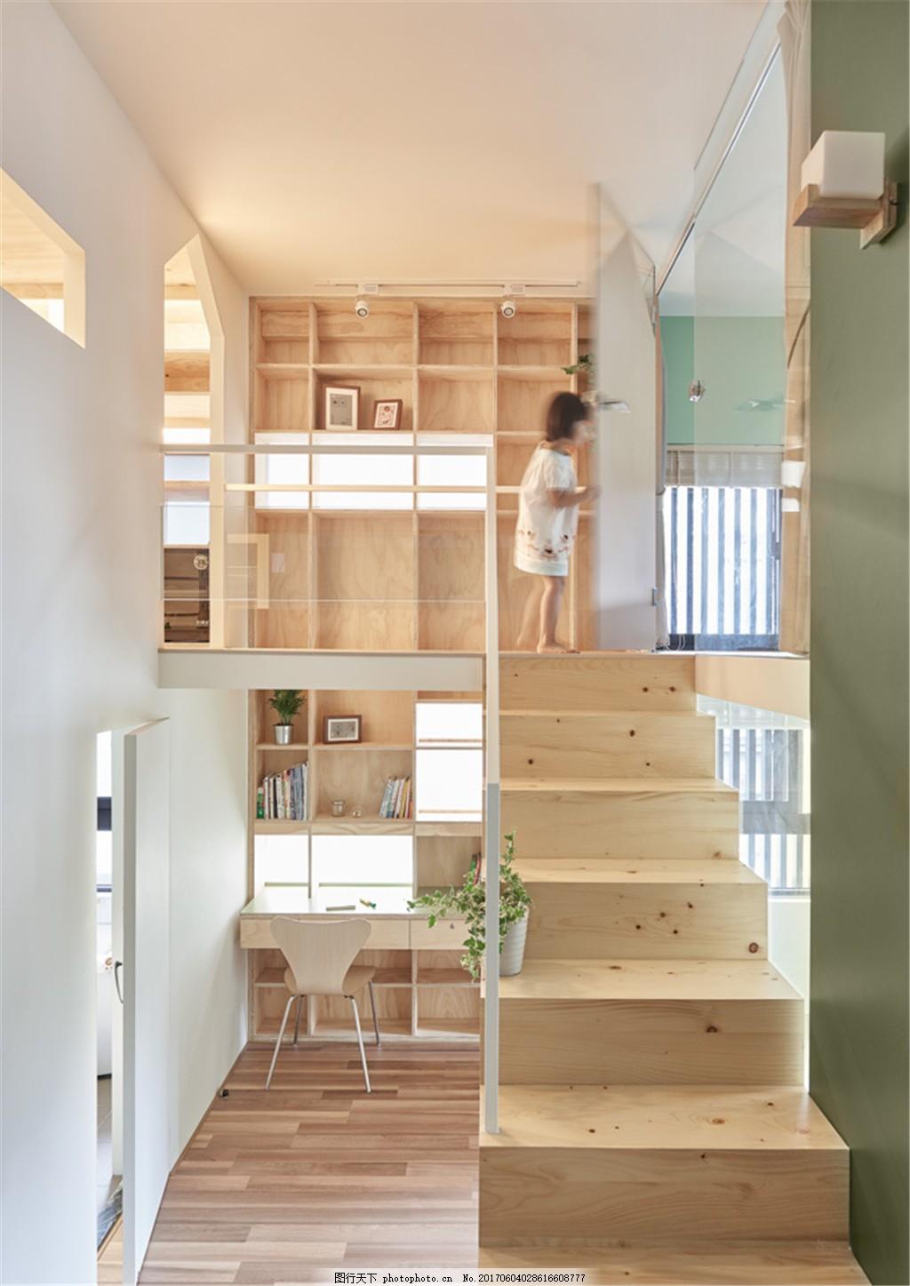 北欧现代楼中楼装修效果图 室内设计 家装效果图 欧式装修效果图 时尚