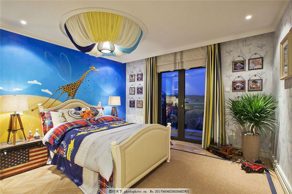 儿童房装修效果图 室内装修效果图图片 室内设计 设计素材 空间设计