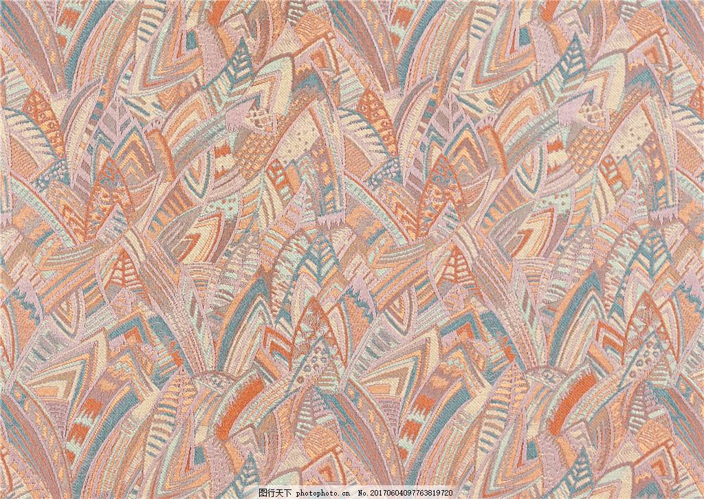 欧式复古花纹布艺壁纸