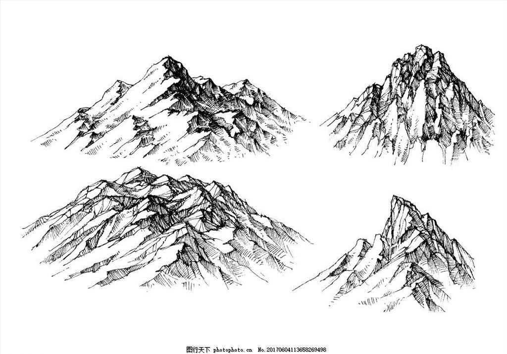 素描山峰 素描 风景画 素描风景 速写 素描欣赏 素描艺术 铅笔画 素描