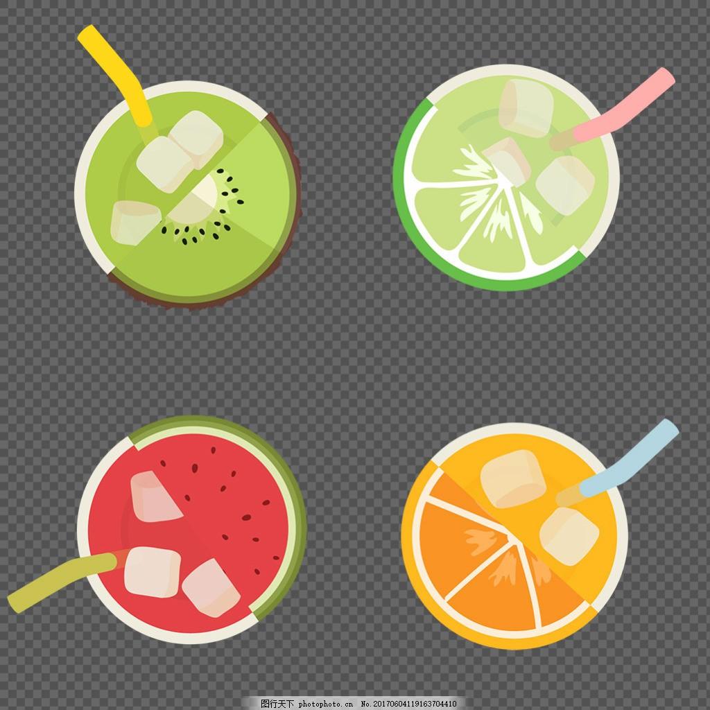 手绘彩色果汁插画图标免抠png透明素材