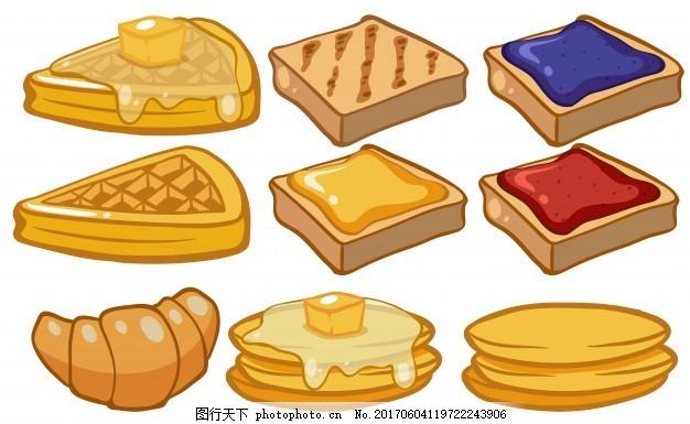 同艺术的美食美味面包店绘画种类面包吃插画地铁站附近香港金钟食物图片
