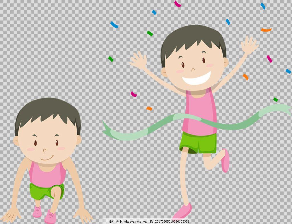 跑步的学生小孩免抠png透明图层素材