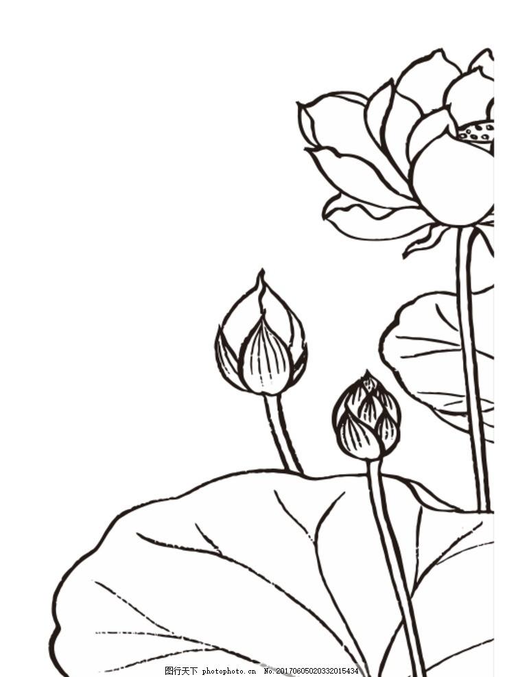 荷花矢量图 荷花 荷叶 矢量      花卉 设计 底纹边框 花边花纹 cdr