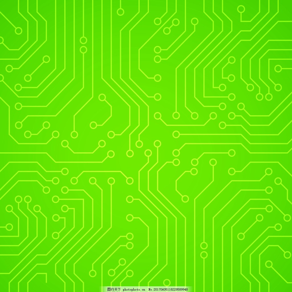 绿色科技电路板ppt背景