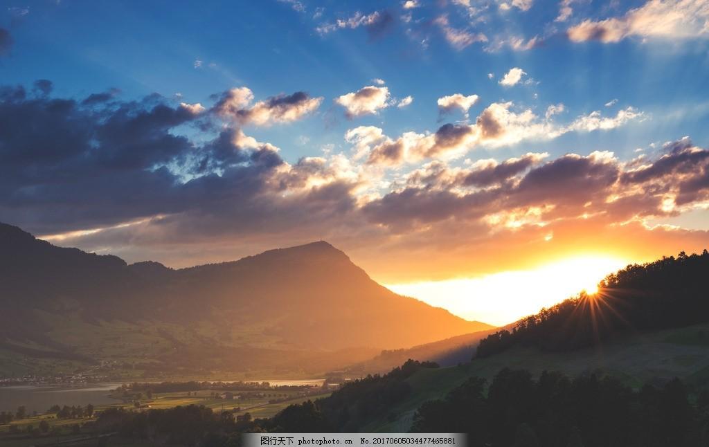 高清壁纸 桌面 自然风光 风景 大自然 背景 夕阳 白云 蓝天 夜景 晚霞