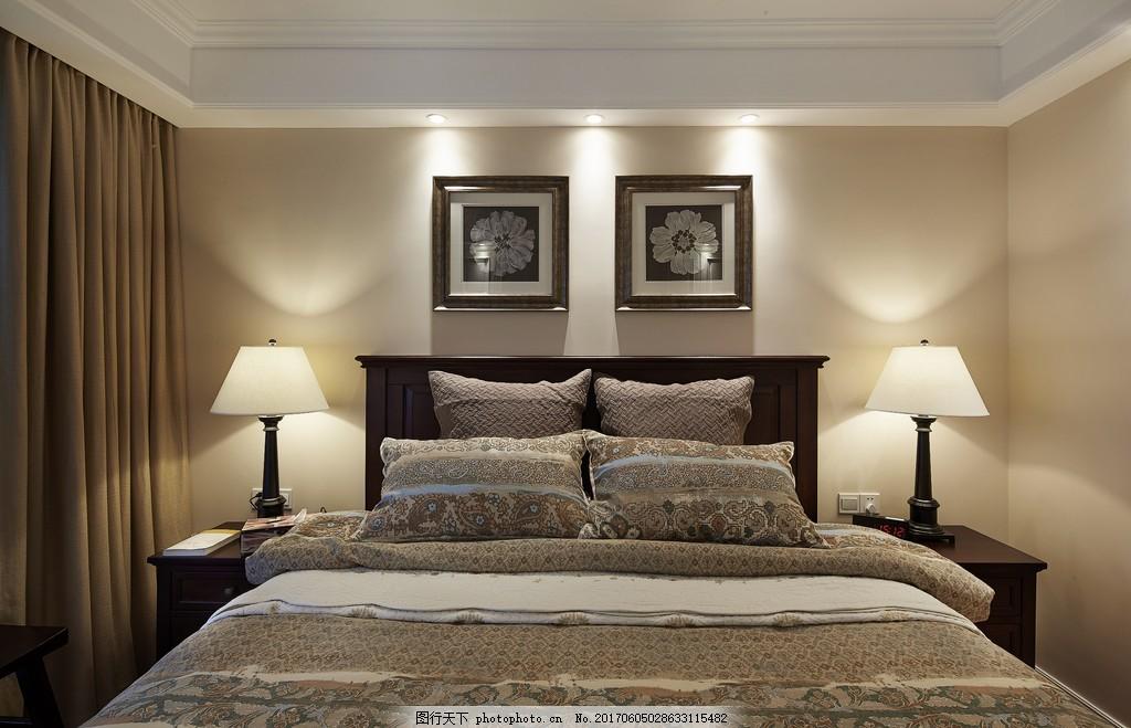 美式简约卧室装修效果图图片