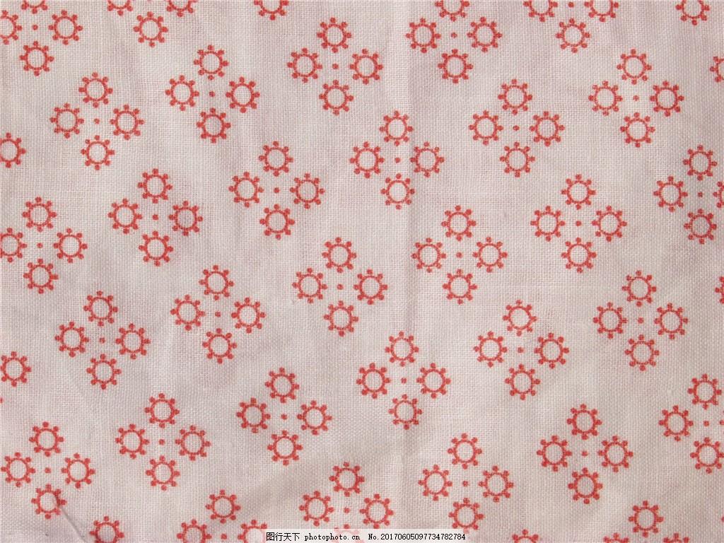 白色背景红色小花布纹壁纸图案图片素材下载