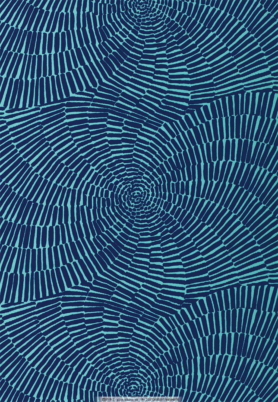 深蓝色手印布纹壁纸 欧式花纹背景图 壁纸图片下载 装饰设计 装饰素材