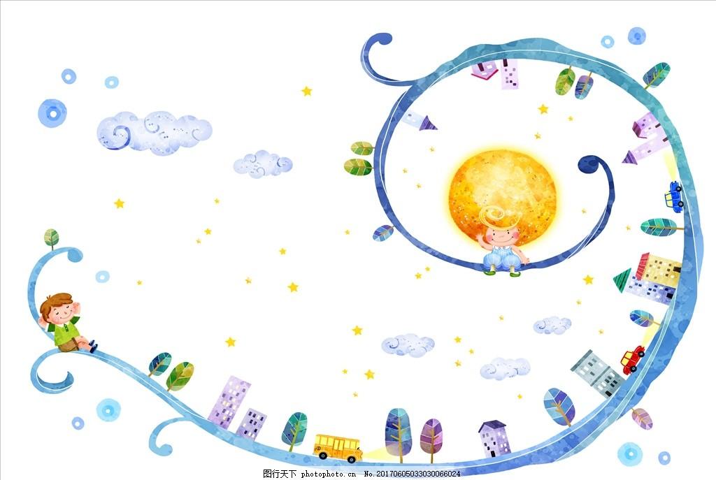 卡通元素 动画 可爱 人物图库 儿童幼儿 高清卡通人物 psd分层素材 封