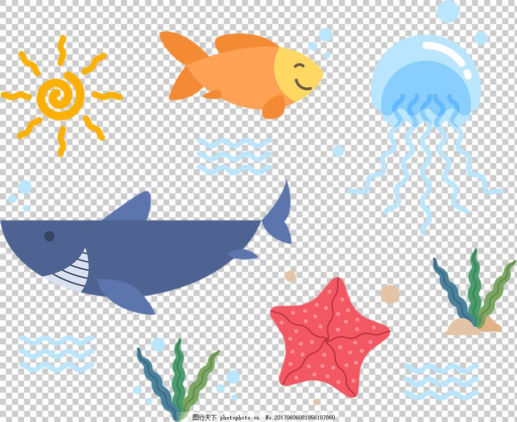 彩色卡通风格动物免抠png透明图层素材 动物插图 可爱动物 动物图标