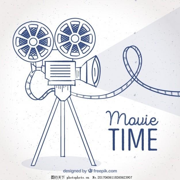 电影背景与手绘相机