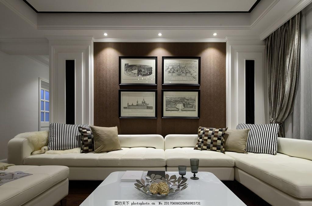 美式装修效果图 时尚 奢华 设计素材 室内装修 装修实景图 家装设计图