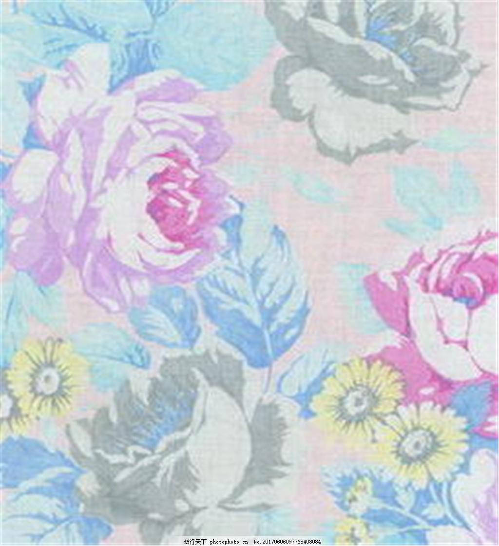 牡丹花开布纹壁纸 中式花纹背景 壁纸素材 无缝壁纸素材 欧式花纹