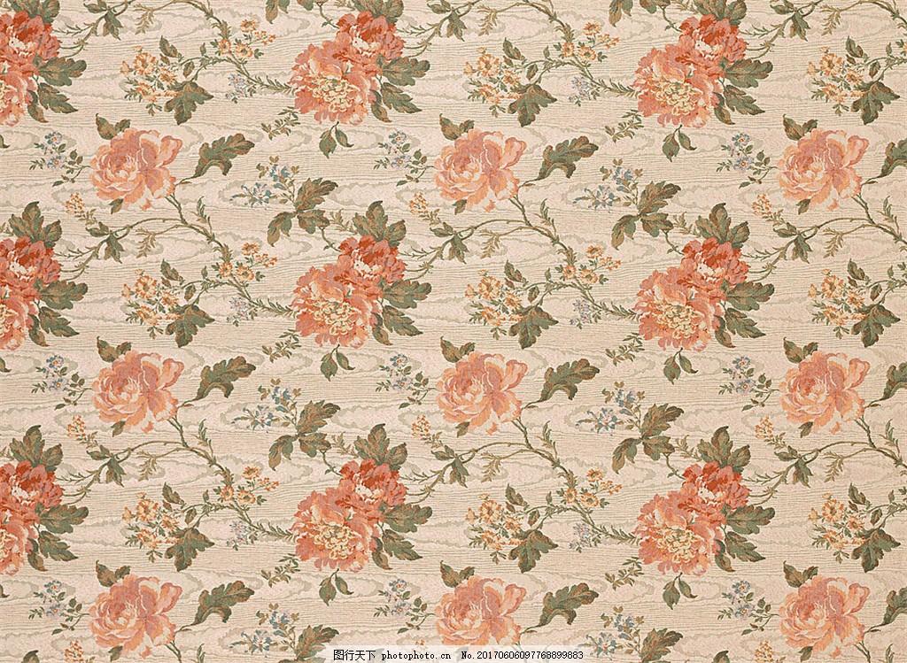 中式花纹布艺壁纸 中式花纹背景 壁纸素材 无缝壁纸素材 欧式花纹 jpg