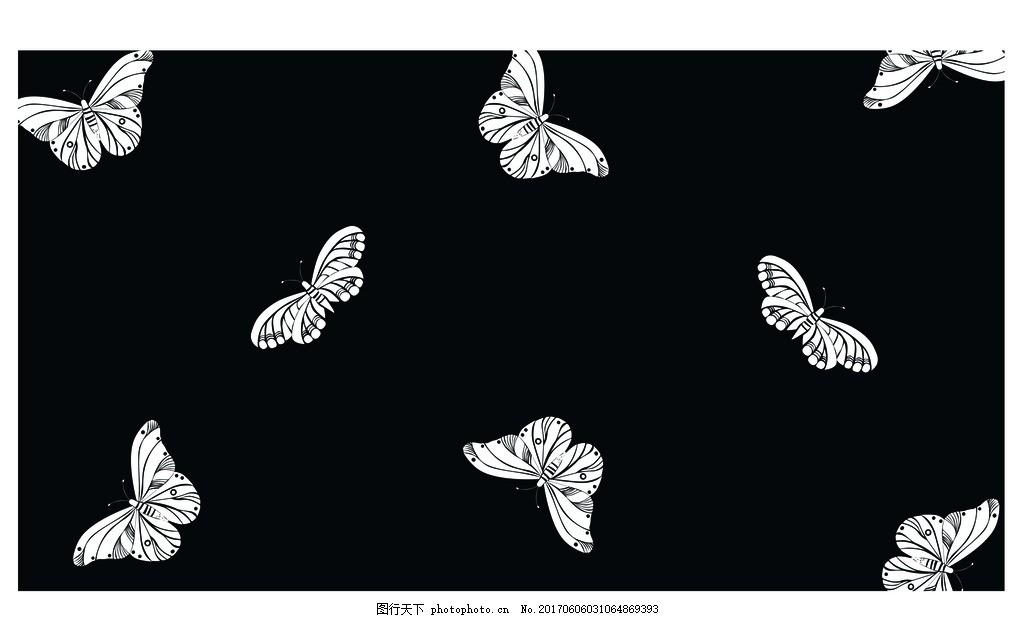 蝴蝶 动物 印花 水印 数码印 胶印 设计 广告设计 其他 ai