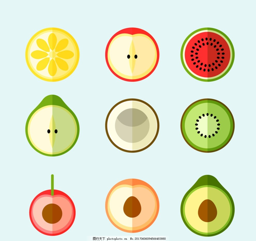 矢量水果图标