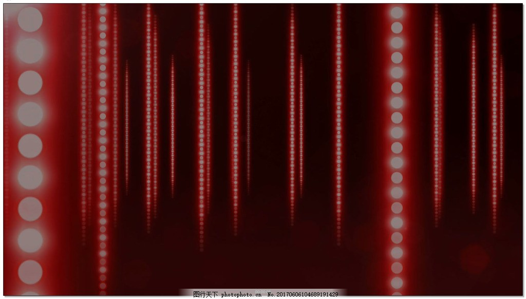 红色竖排珠帘光效背景视频素材 联席 一串串 高清视频