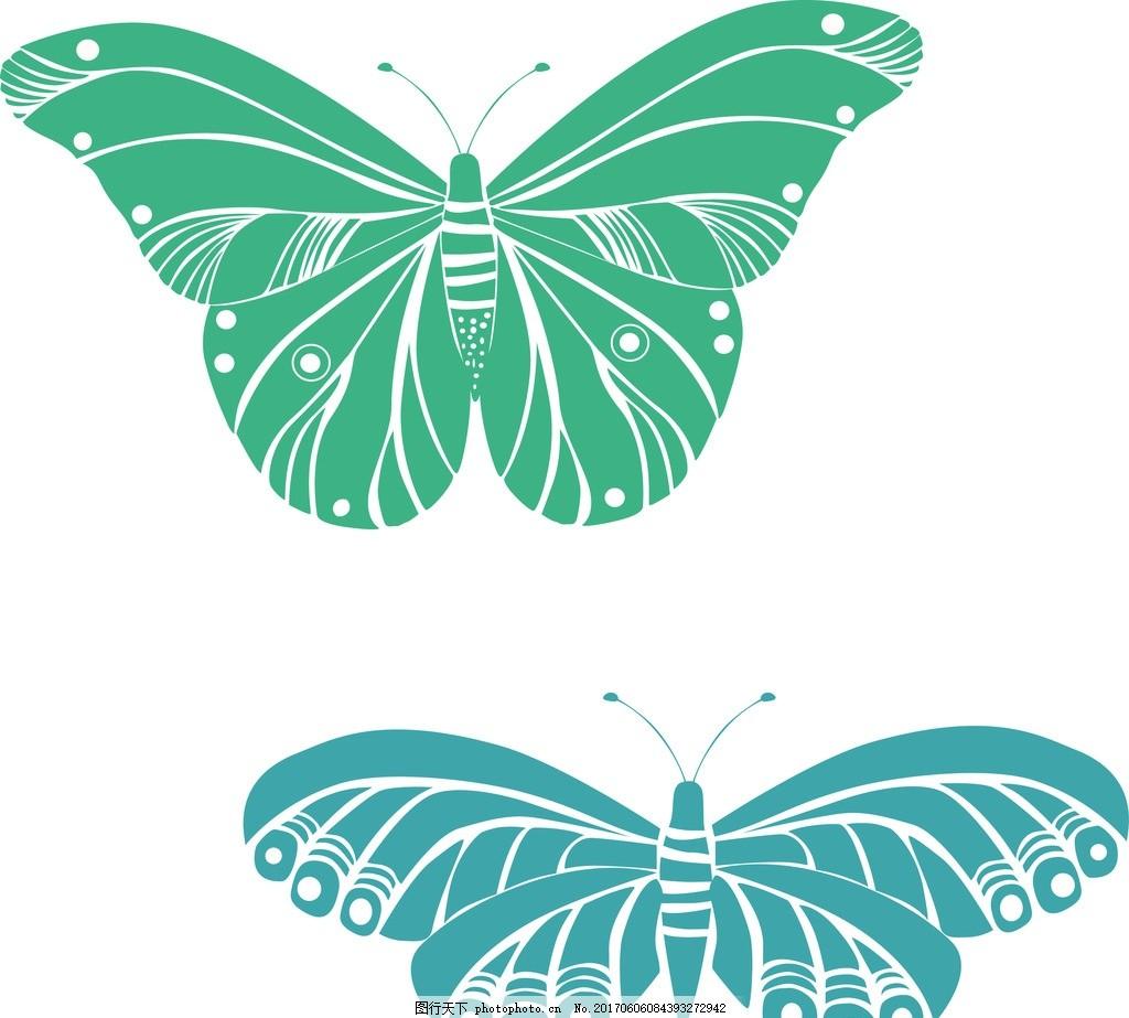 蝴蝶单个素材 动物 分层 绣花 海报 素材 印花 设计 广告设计 其他 ai