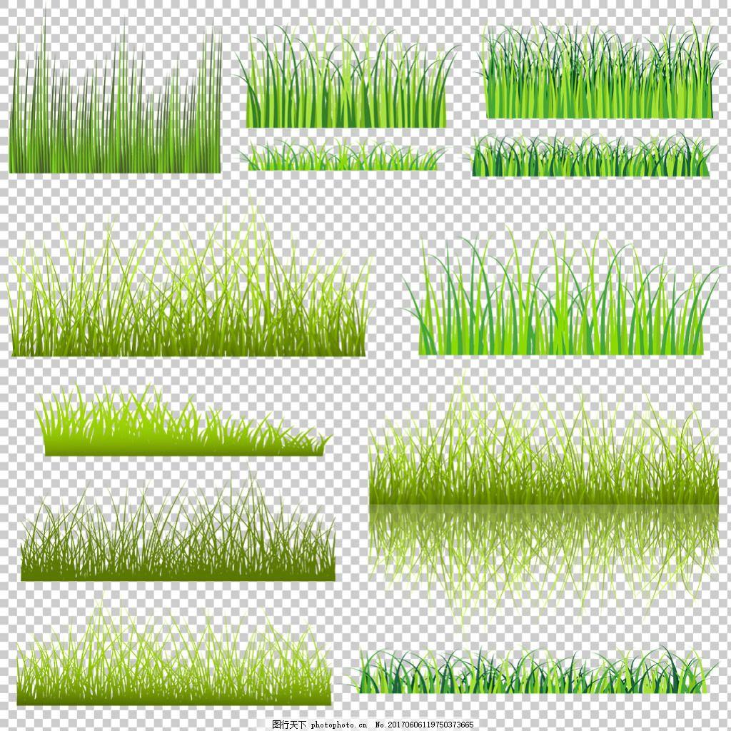 绿色草地边框素材免抠png透明图层素材