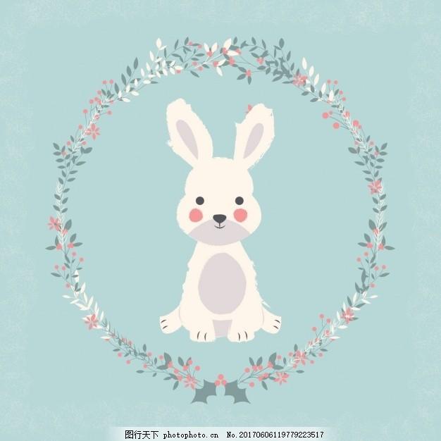 树叶拼成兔子图案大全