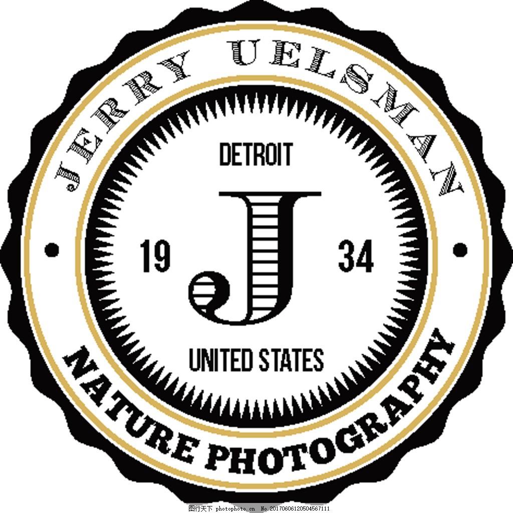 圆形创意标签logo 简约 线条 矢量 素材 源文件 标签图片