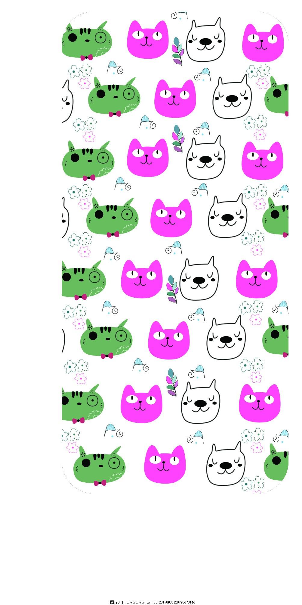 小动物合集 青蛙 狗 简笔画 插画