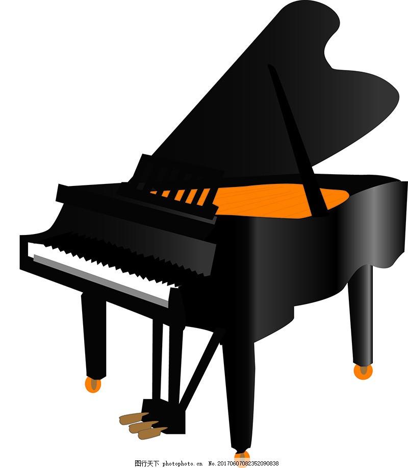 卡通钢琴素材设计图片