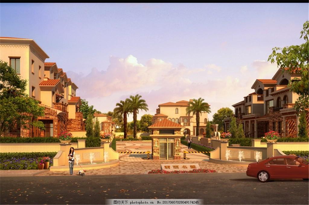 建筑设计效果图 建筑表现 景观设计 室外设计 后期设计 景观图