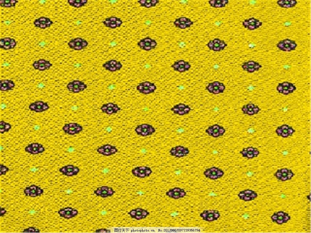 黄色小花布纹壁纸图案素材下载