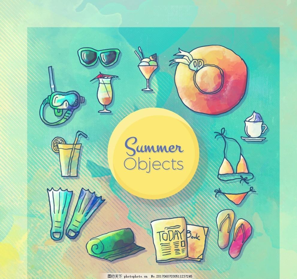 夏季展架 夏季活动 夏季活动海报 美食插画 插画 手绘美食 食物 肉